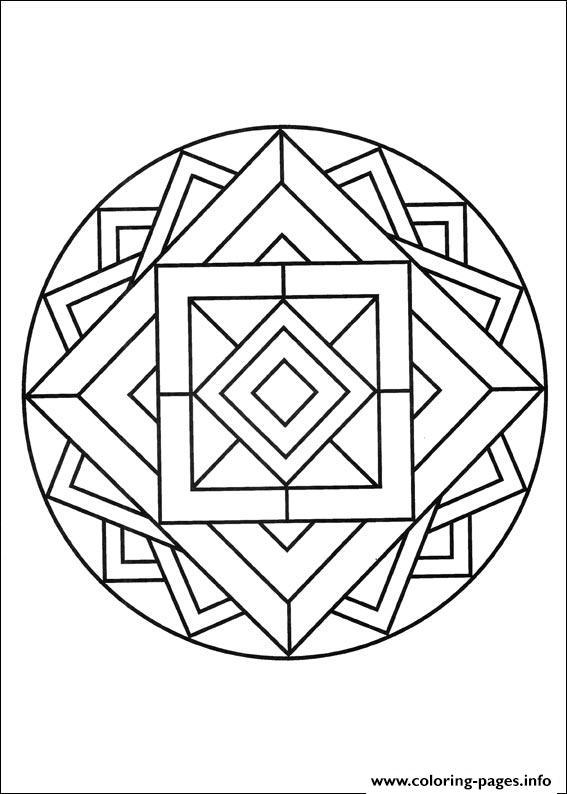 Simple Free Mandalas 14 Coloring