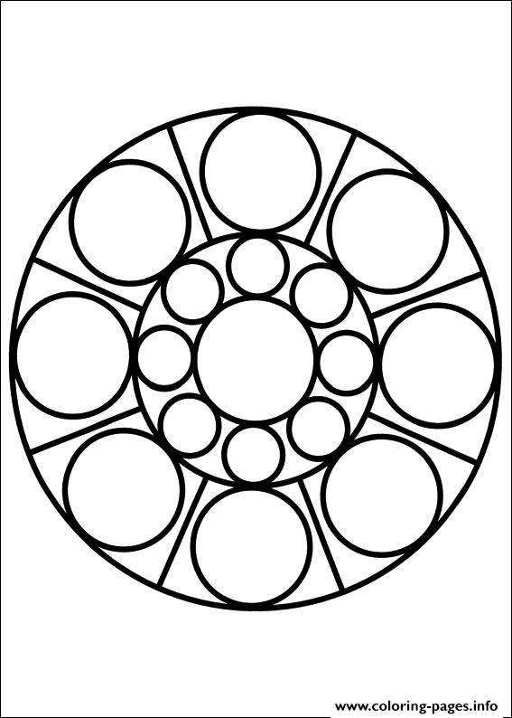 Easy Simple Mandala 77 coloring pages