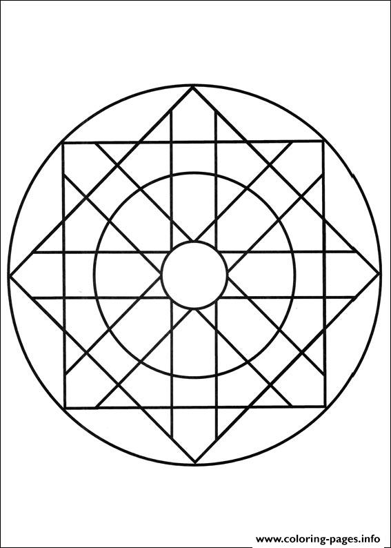 Simple Free Mandalas 06 coloring pages