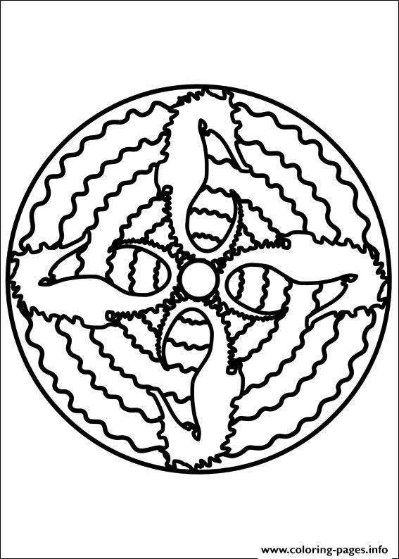 Easy Simple Mandala 70 coloring pages