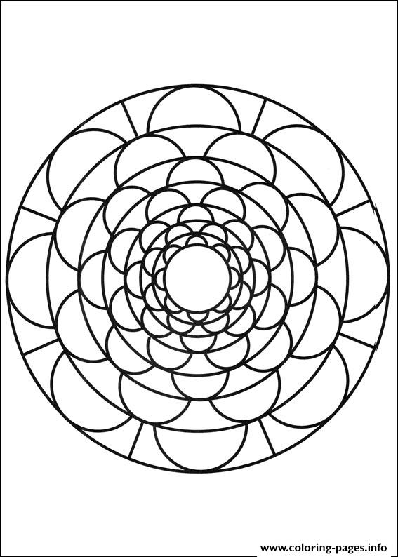Simple Free Mandalas 09 coloring pages