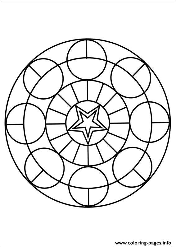 Simple Free Mandalas 18 Coloring