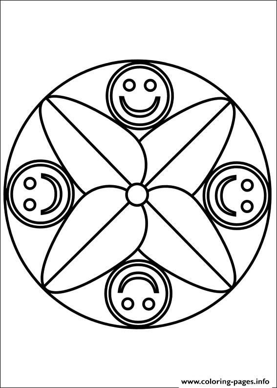 Easy Simple Mandala 73 coloring pages