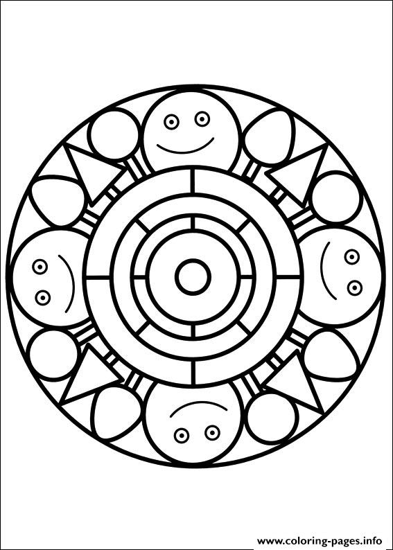 easy simple mandala 90 coloring pages printable. Black Bedroom Furniture Sets. Home Design Ideas