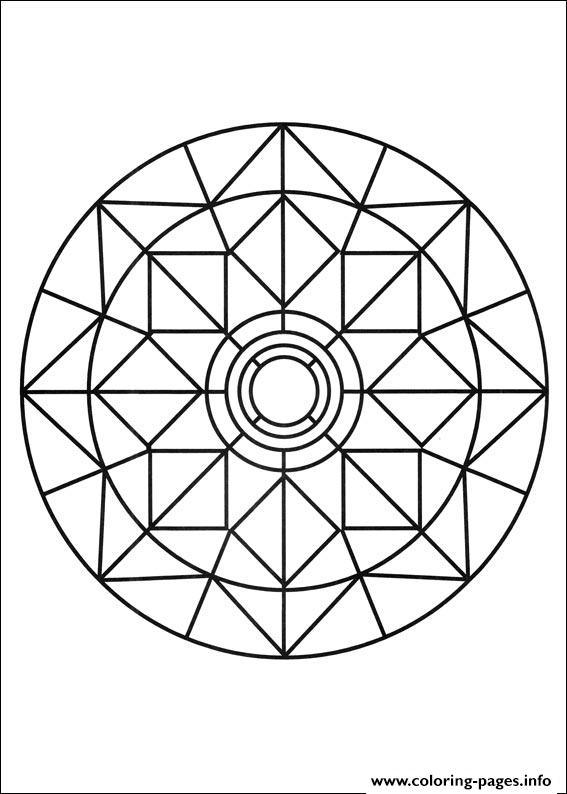 Simple Free Mandalas 03 coloring pages