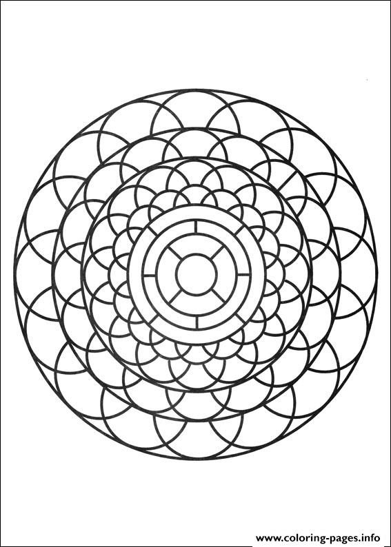 Simple Free Mandalas 22 coloring pages