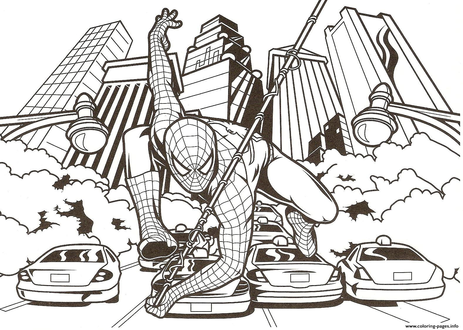 Amazing Spiderman S80db Coloring Pages Print Download