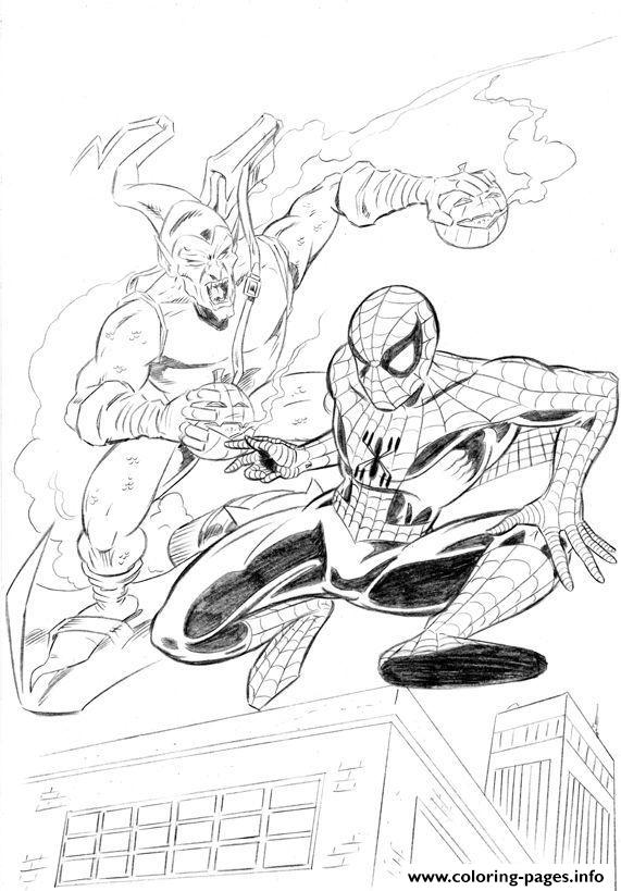 Spiderman S Green Goblin8230 Coloring Pages Printable