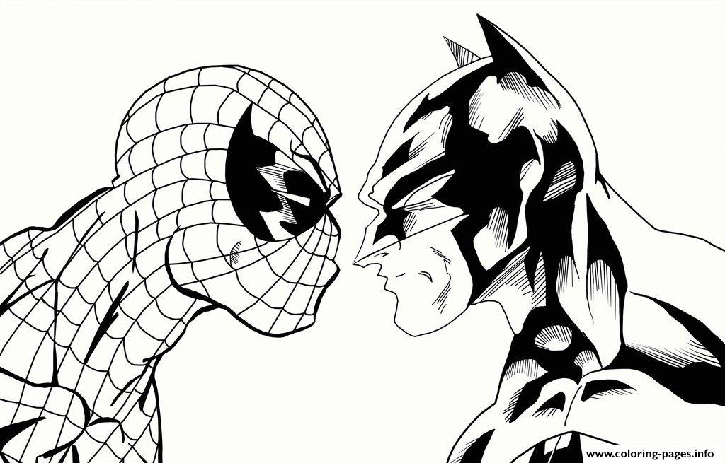 Coloring Pages Spiderman And Batman4184 Print Download
