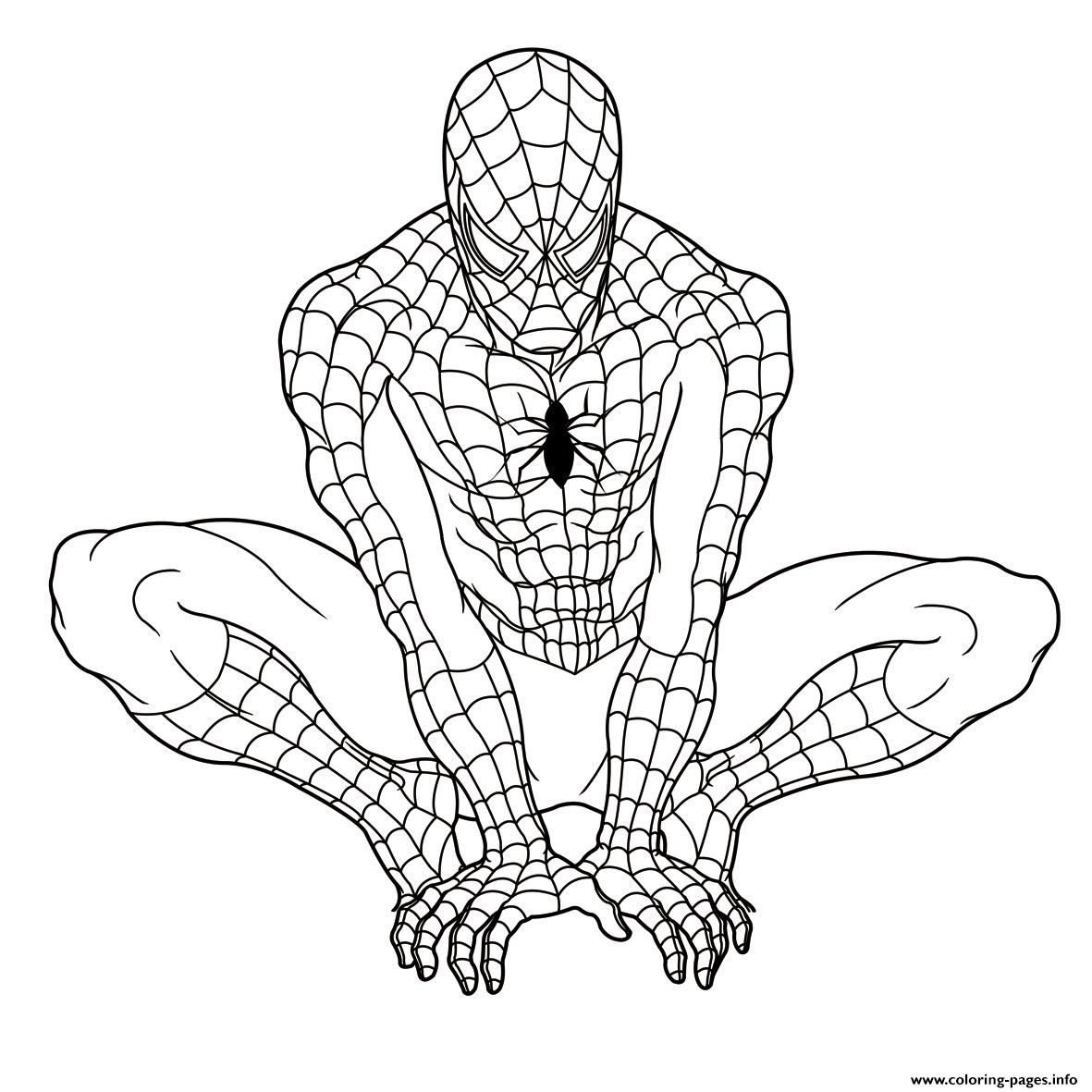 Ultimate Spiderman S894b Coloring Pages Printable