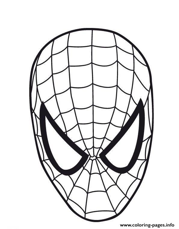 Spiderman Mask S62c4 Coloring Pages Printable