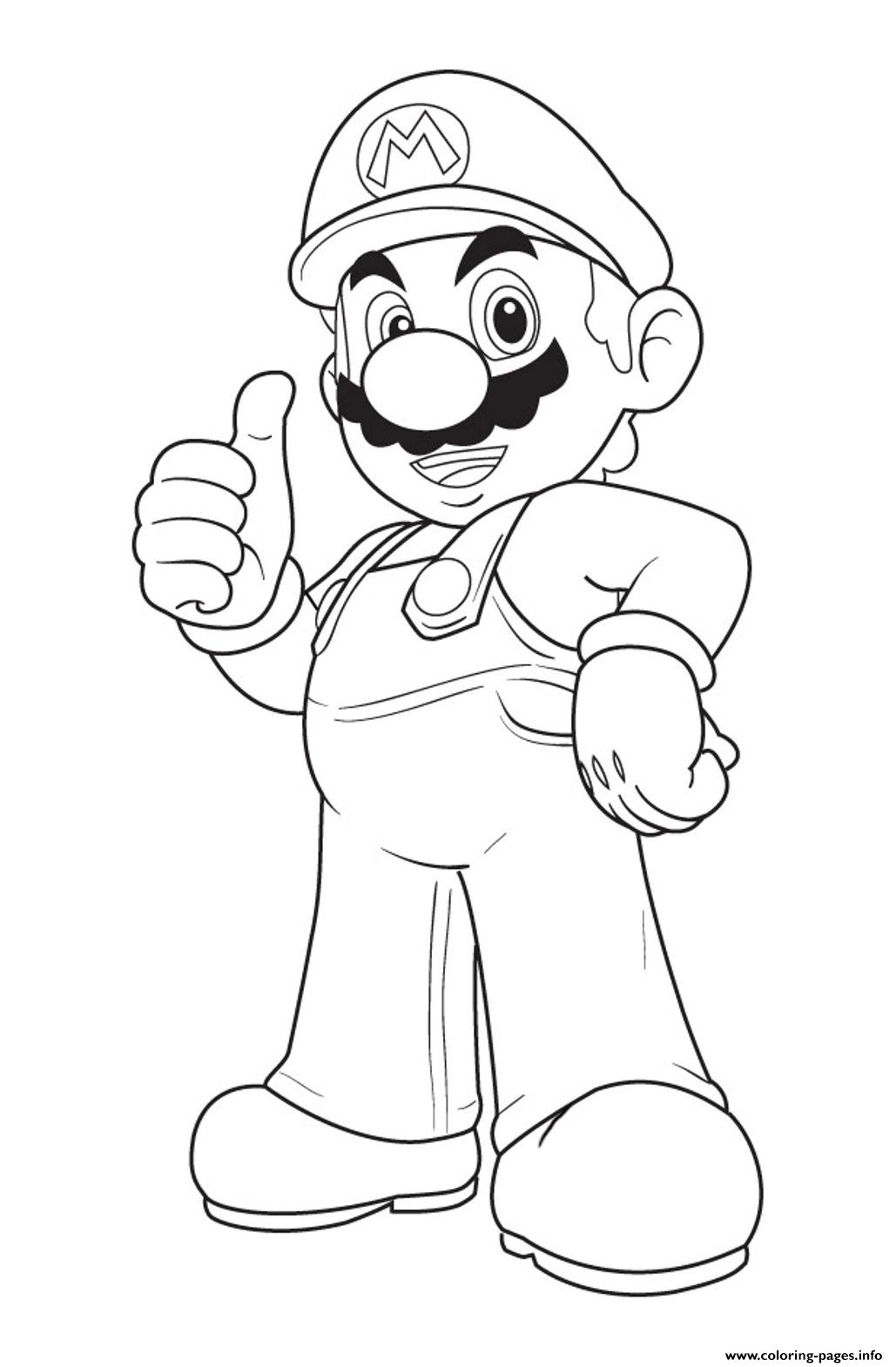 Mario Bros S Freec774 coloring pages