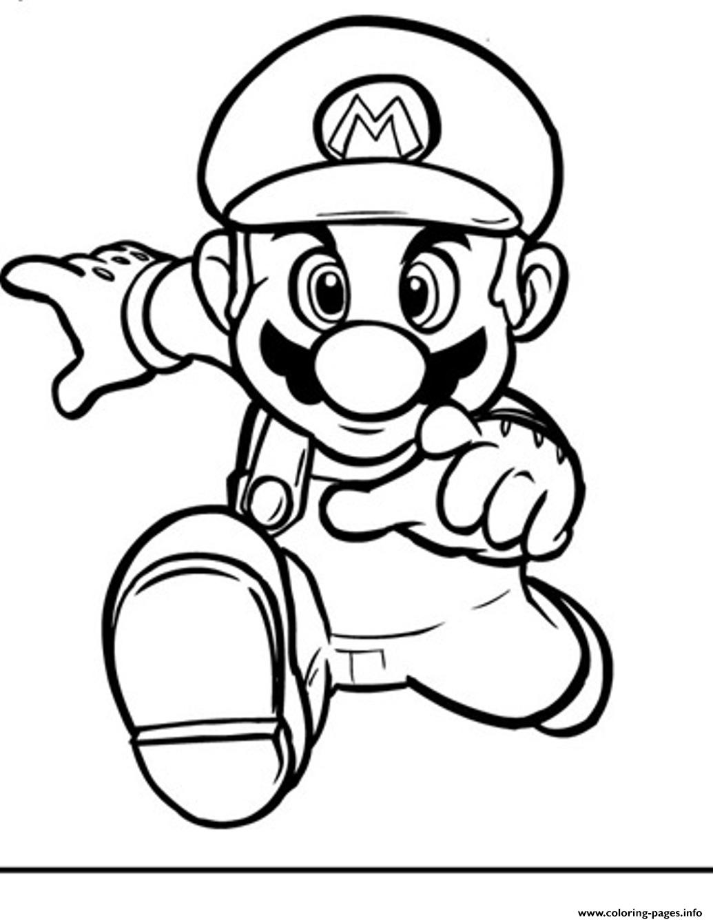 running mario bros s2394 coloring pages printable