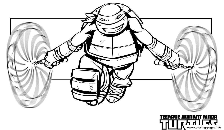 Mike Ninja Turtle Free Superhero Sf299 Coloring Pages Printable