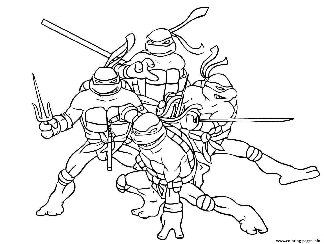 Superhero Ninja Turtle Freef8a0 Coloring Pages Printable