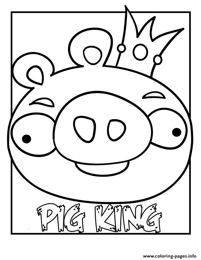 Angry Birds Pig S King5b33 Coloring Pages Printable