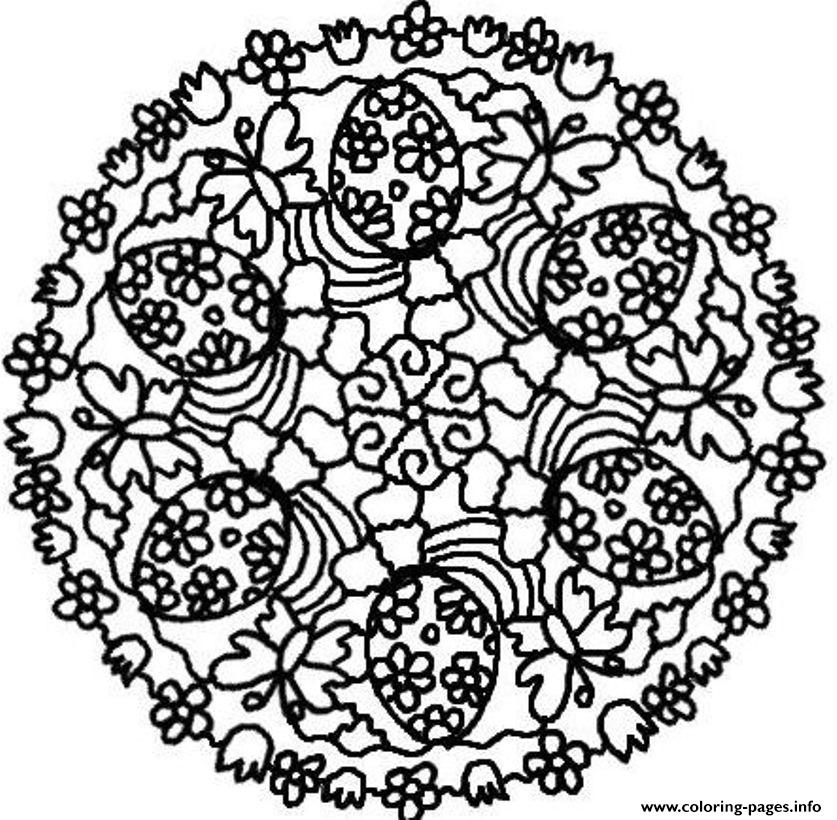 Easter Eggs Mandala Se297 Coloring Pages Printable