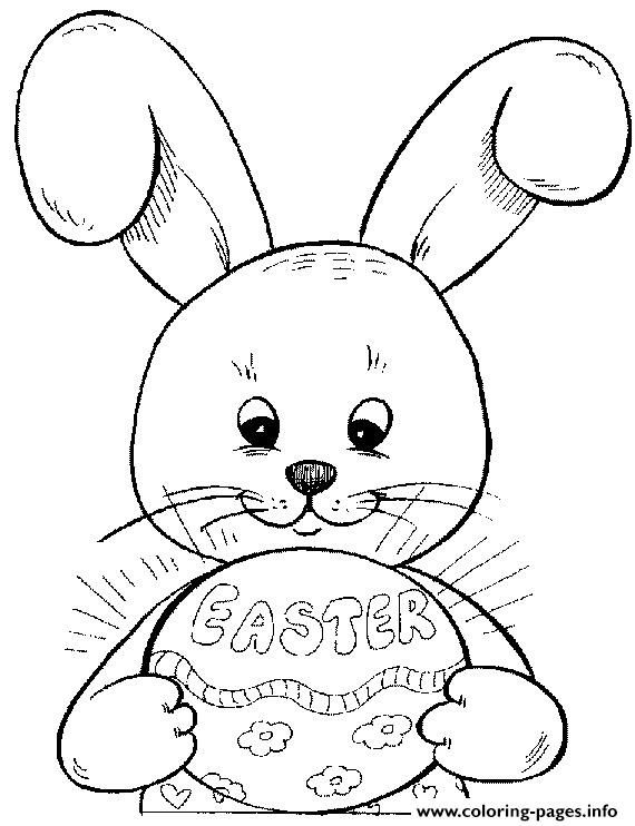 Bunnies Easter S Bunny Decorating Eggs3b10 Coloring Pages