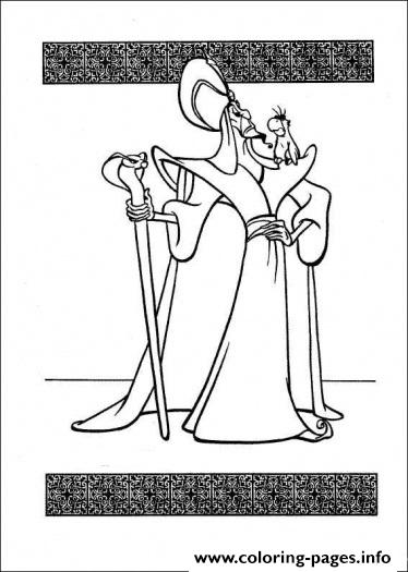 Jafar Disney Princess S5398 coloring pages