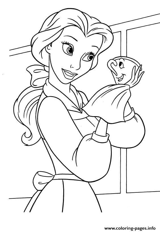 Belle Cleaning Chip Disney Princess