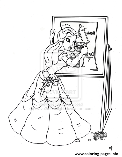 Belle Drawing Something Disney Princess B924 coloring pages