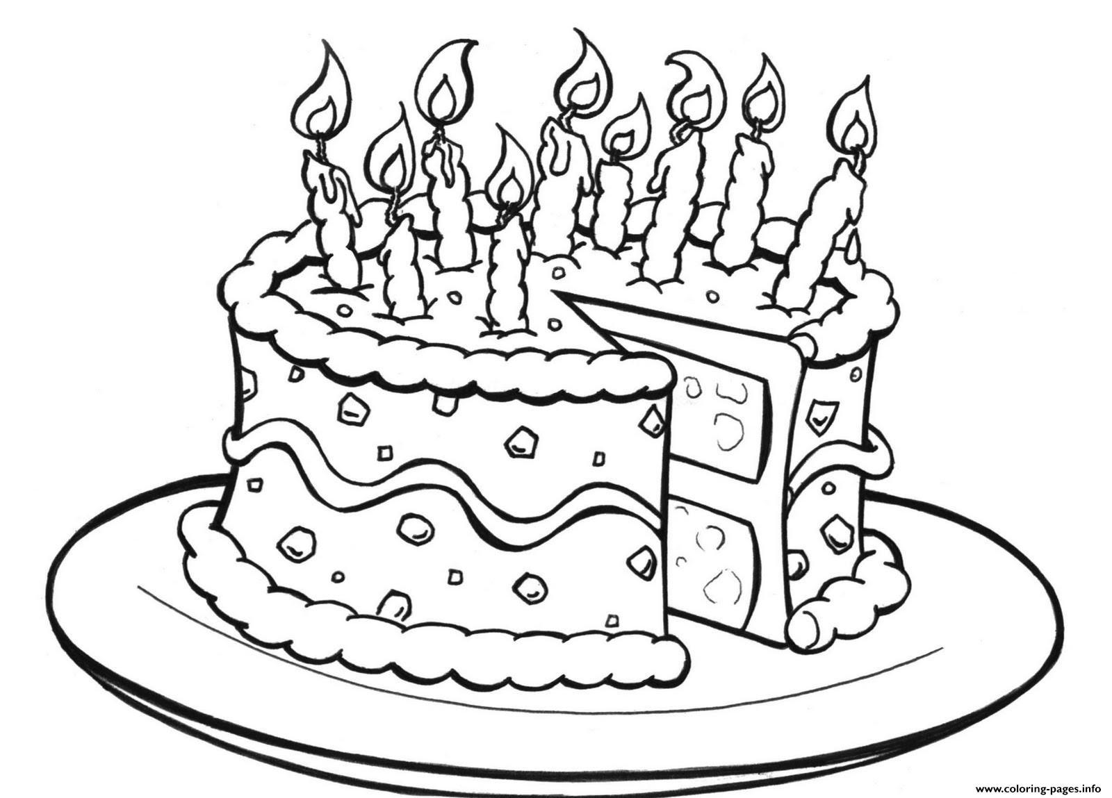 Birthday Cake Printablee049 Coloring Pages Printable