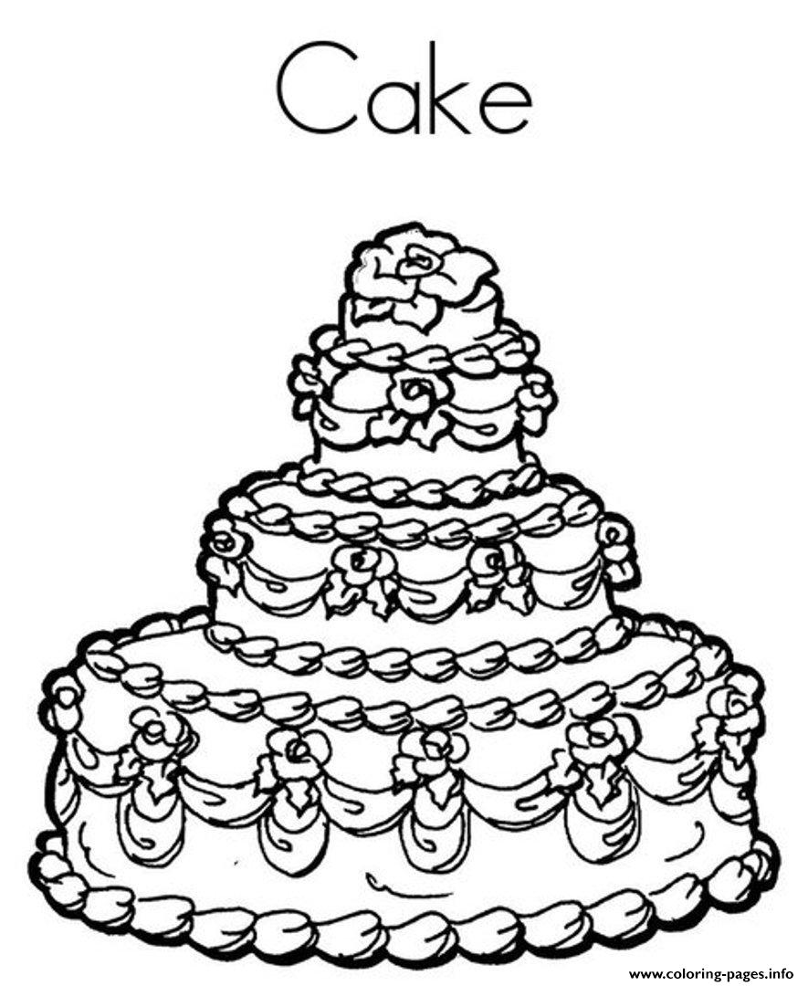 delicious birthday cake 9fcd coloring pages