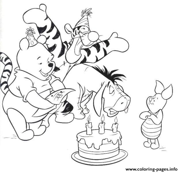 Winnie The Pooh Happy Birthday  Disney9dbd coloring pages