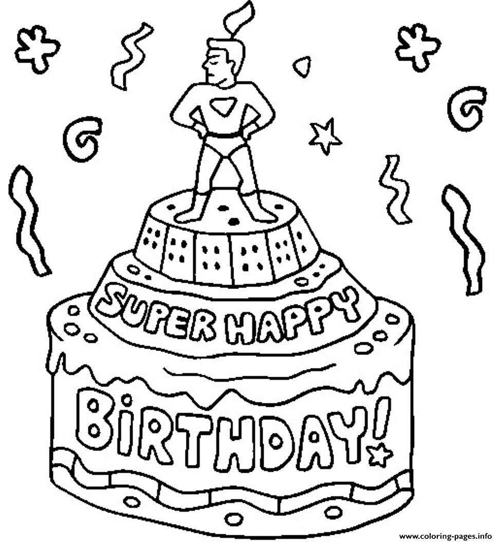 Super Happy Birthday F44c coloring pages
