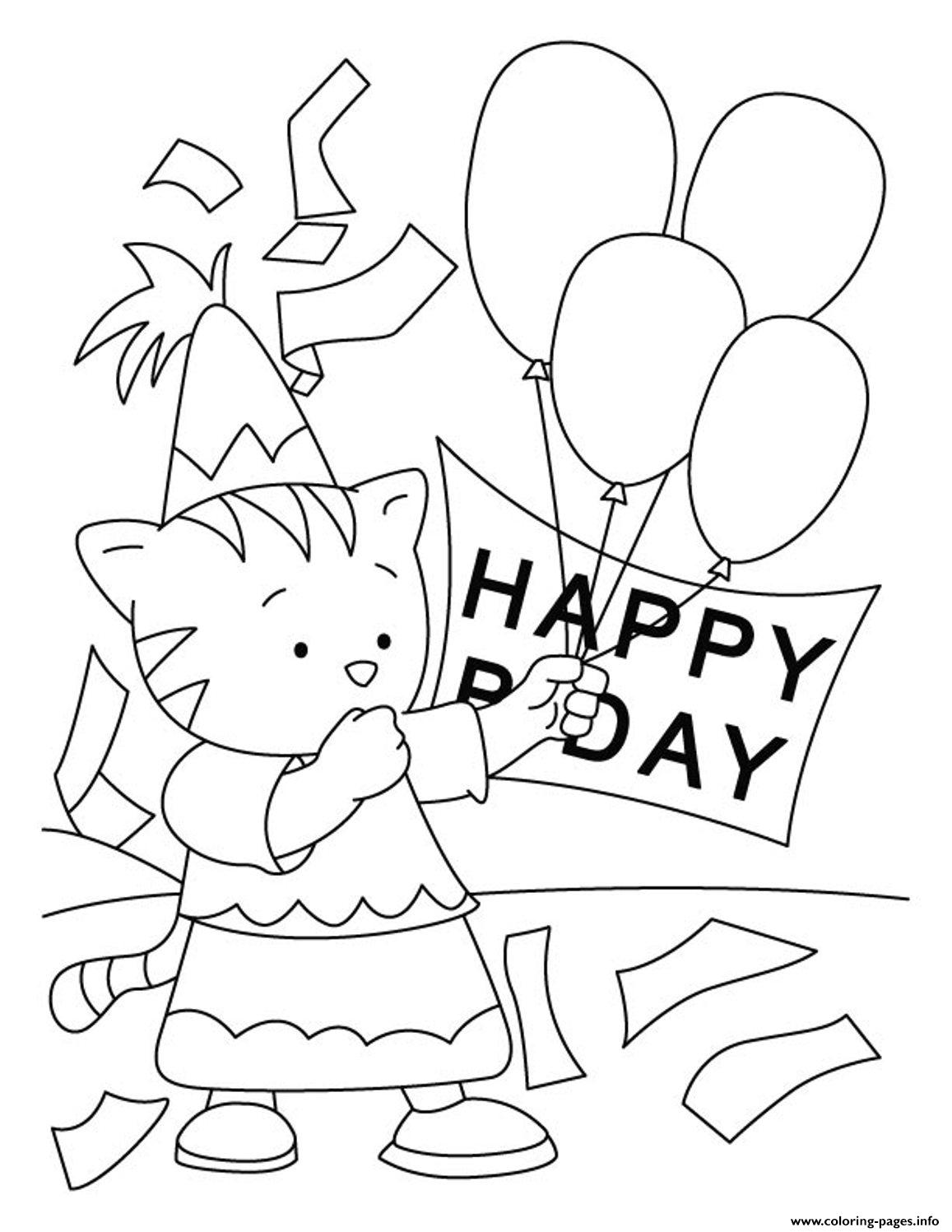 Happy Birthday  For Kidsdd66 coloring pages