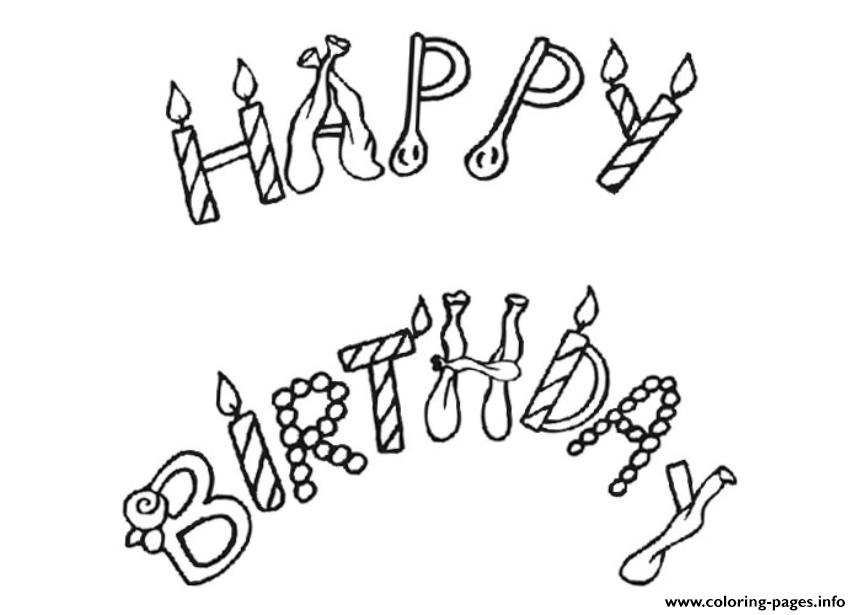Free Printable Happy Birthday F3b4 coloring pages