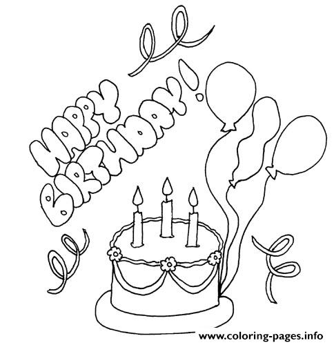 Cake Happy Birthday S Freea77a coloring pages