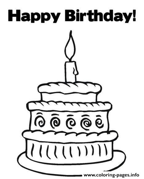 Happy Birthday S Free Cake1093 coloring pages
