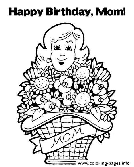 Happy Birthday Mommy S72f8 coloring pages