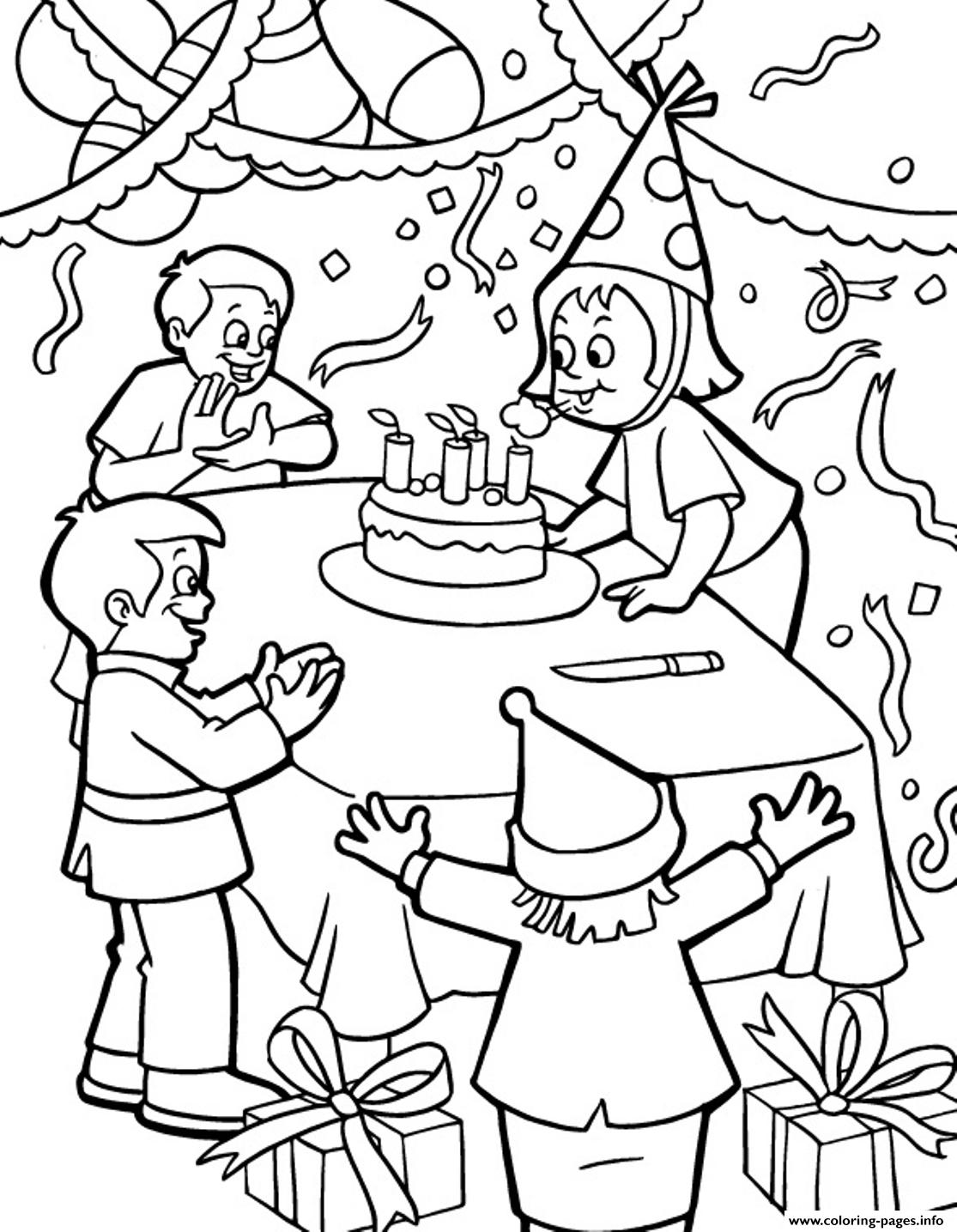 Happy Birthday Coloring Books For Adults Free Sheets Printable ... | 1435x1115