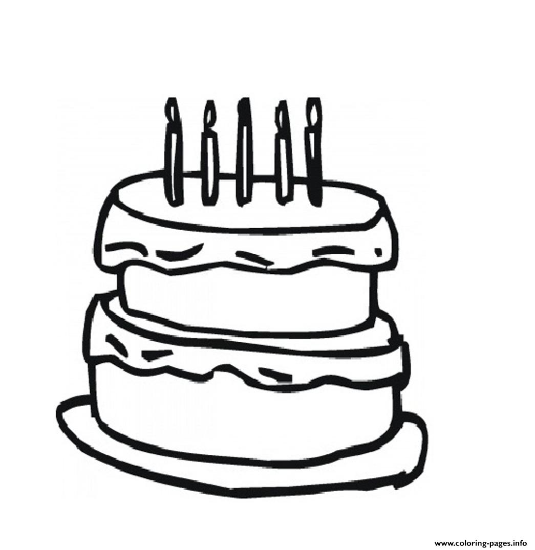 Free Birthday Cake Fdb7 coloring pages