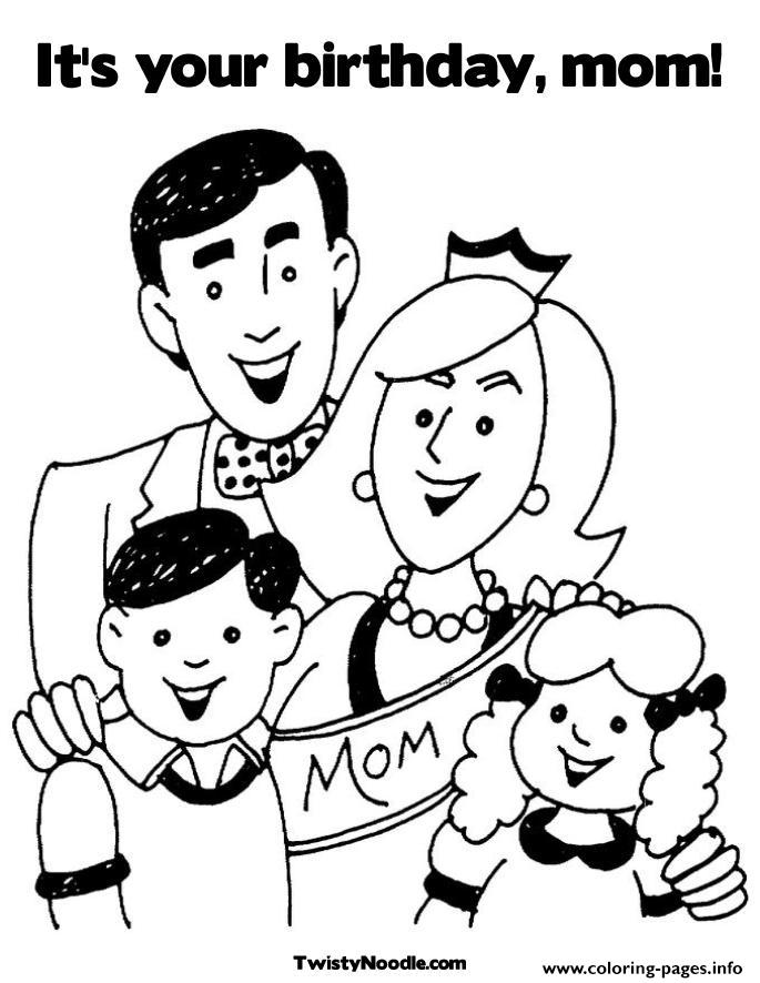 Fams Happy Birthday Mommy S37d6 coloring pages