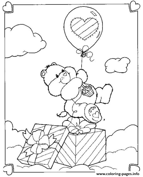 Happy Birthday Bear  Care Bear2650 coloring pages