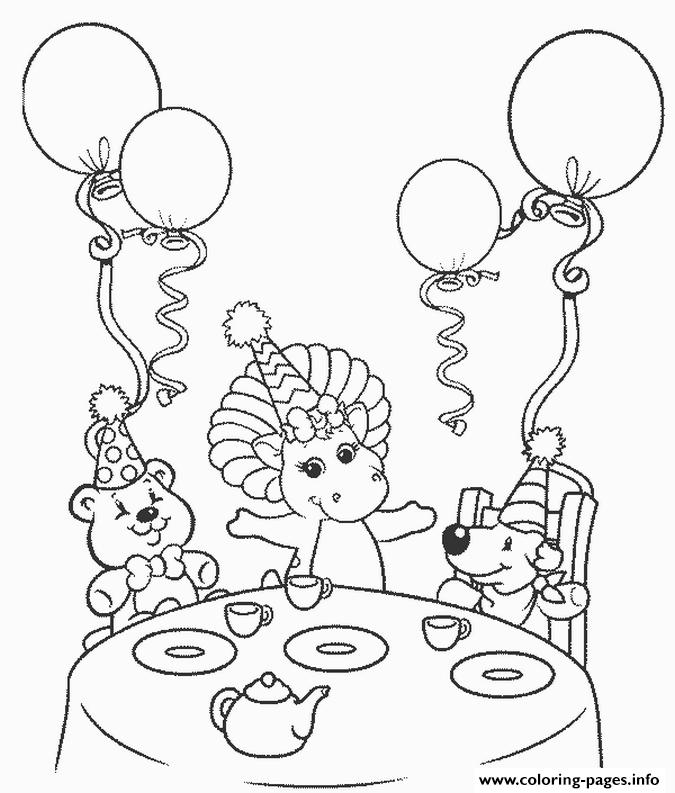 Barney Happy Birthday S6476 coloring pages