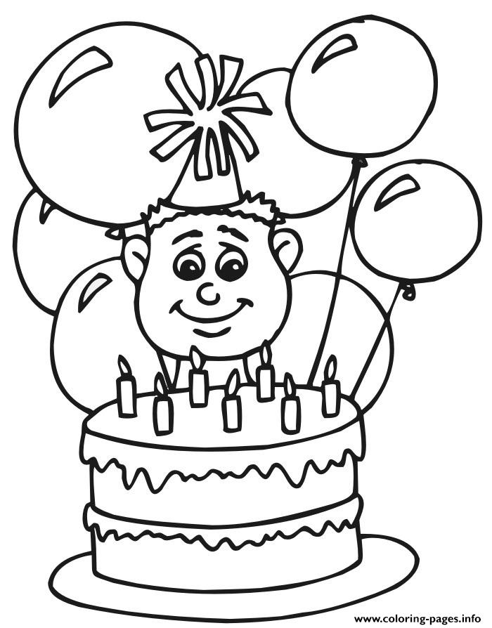 boys happy birthday balloons s0bff coloring pages
