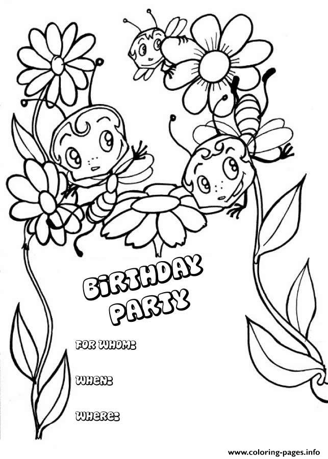 Happy Birthday  Card For Kid37cd coloring pages