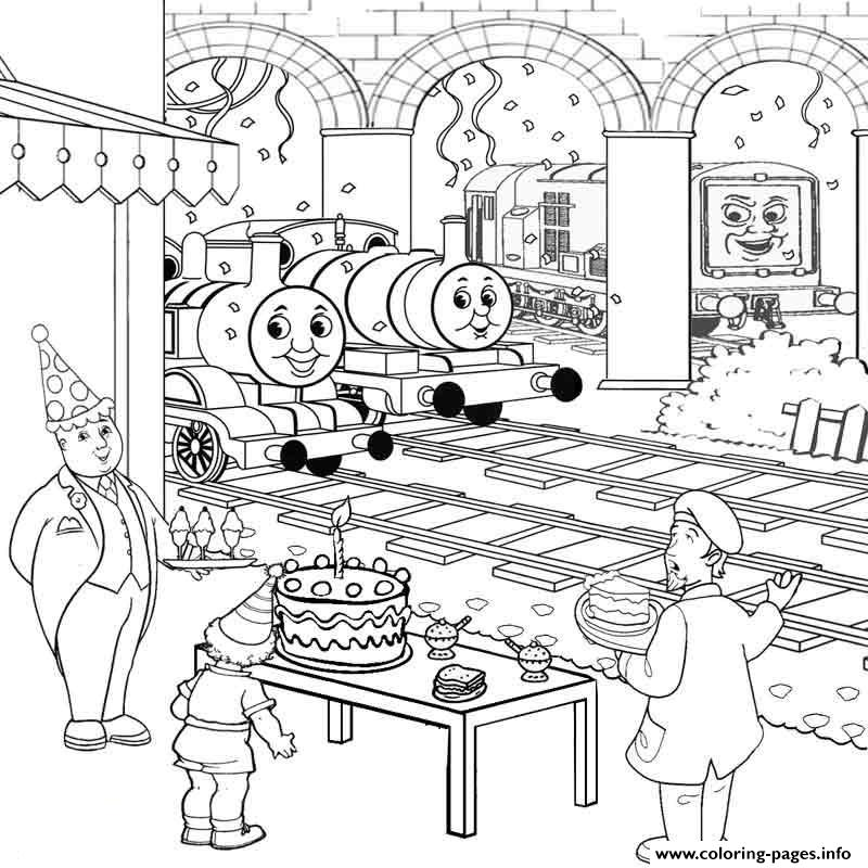 Thomas The Train S Birthdayba32 coloring pages