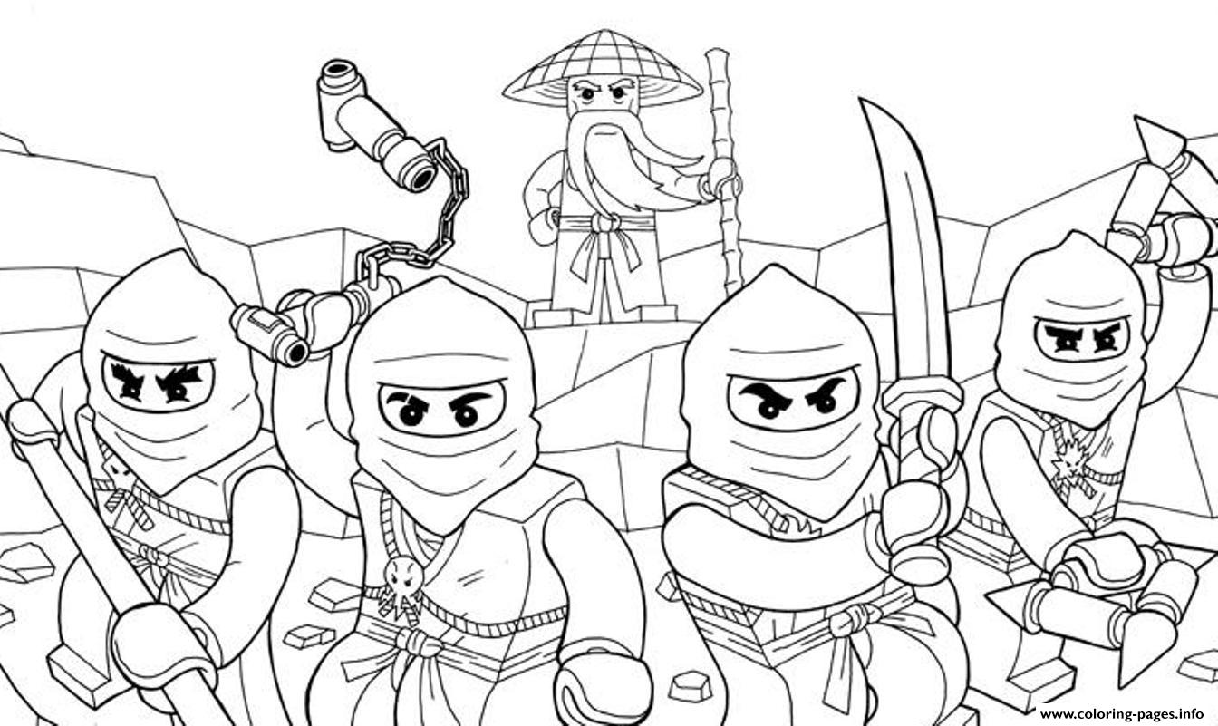Awesome Ninjago S07e6 Coloring Pages Printable