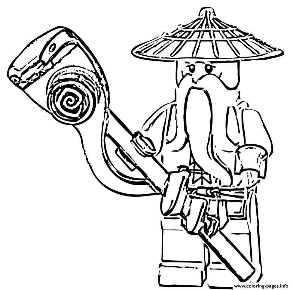 sensei wu ninjago s963b coloring pages