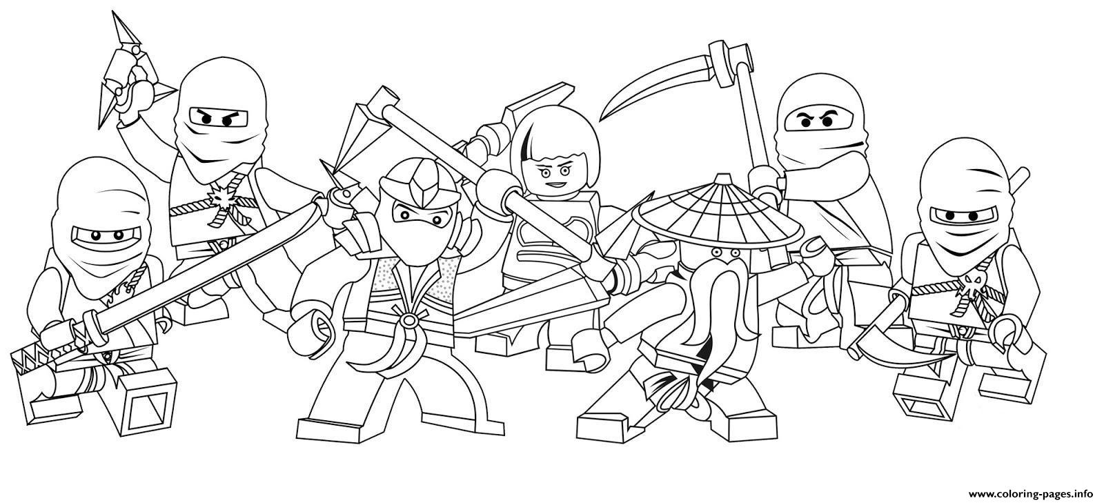Characters Of Ninjago Secc8 coloring pages