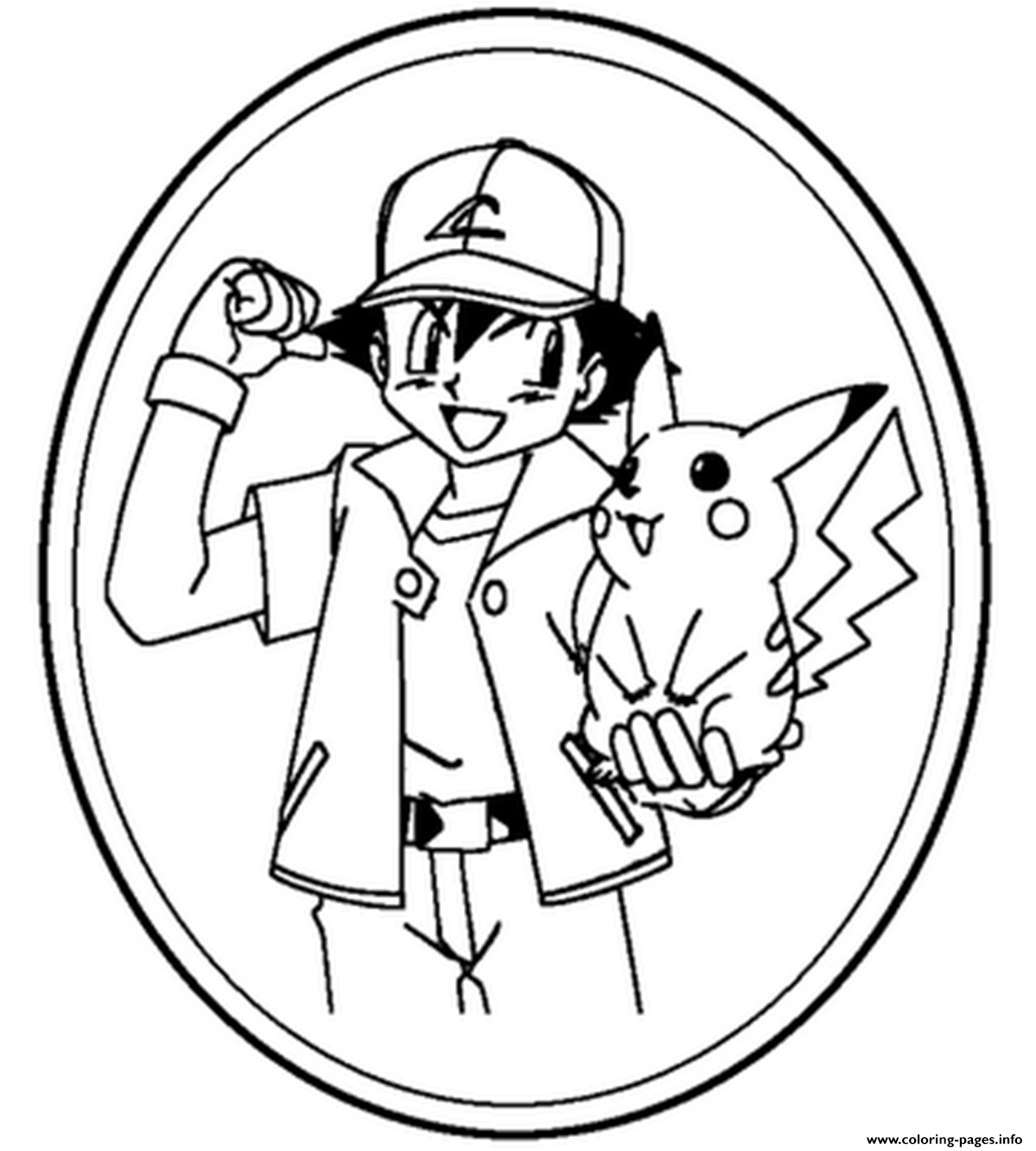 Ash And Pikachu S8744 coloring pages