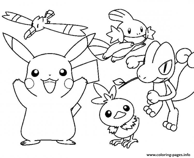 pokemon pikachu coloring pages - pokemon cartoon pikachu sdd34 coloring pages printable