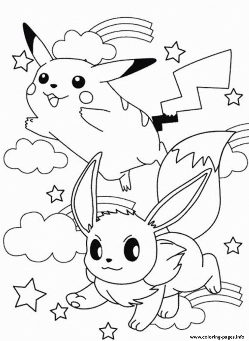 Printable Pikachu Sc2eb coloring pages