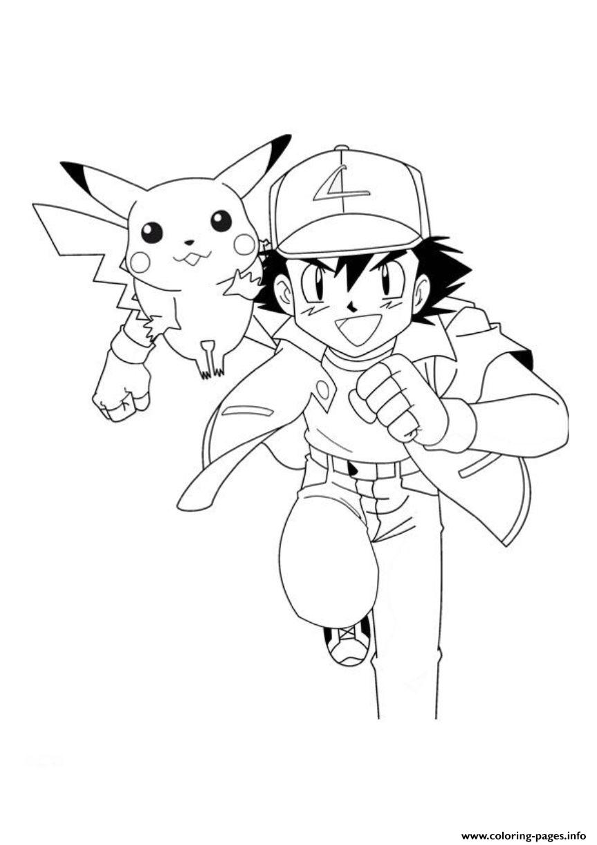 pokemon ash and pikachu sd5a0 coloring pages