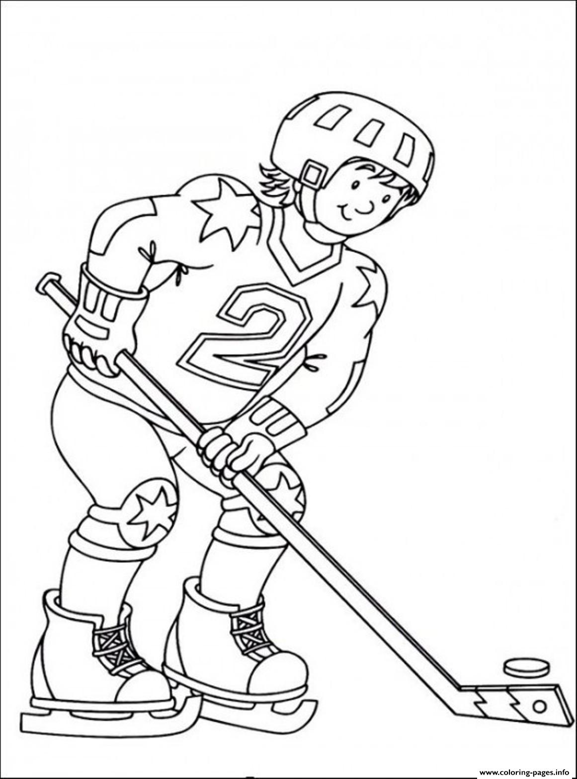Hockey Sedbd Coloring Pages Printable